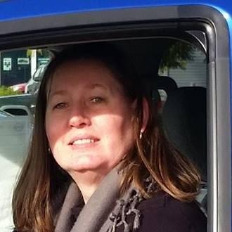 cynthia in truck